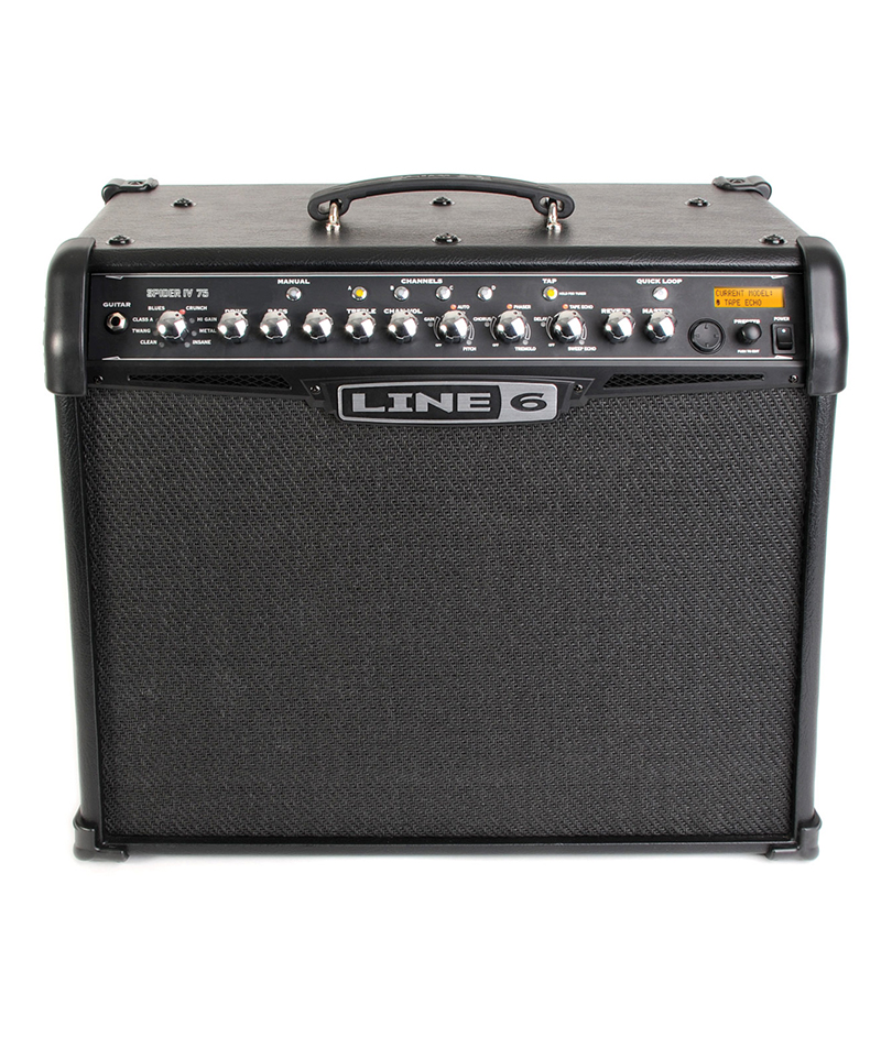 line 6 spider iv 75 combo guitar amp main street music sound. Black Bedroom Furniture Sets. Home Design Ideas