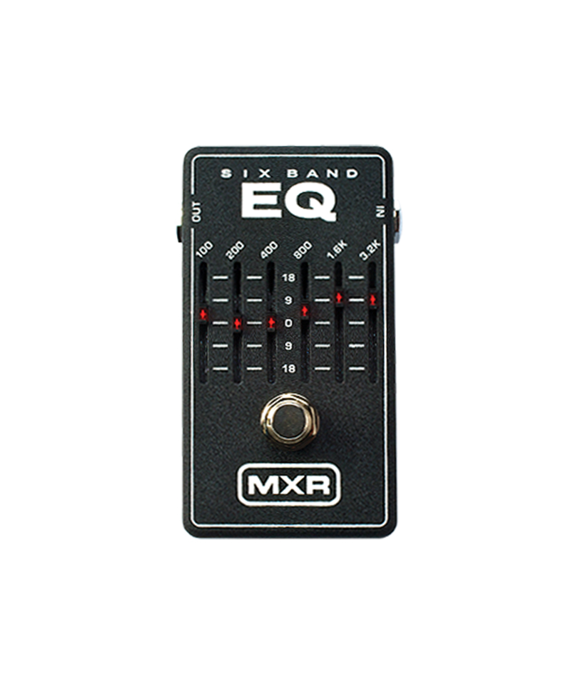 mxr 6 band graphic eq pedal main street music sound. Black Bedroom Furniture Sets. Home Design Ideas