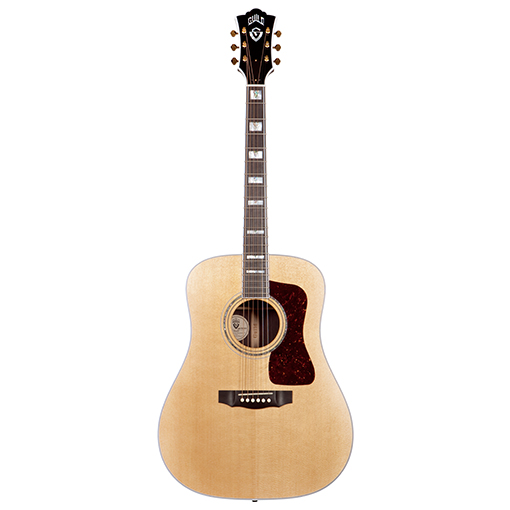 Guild-D55-Acoustic-Guitar, Natural,Rosewood Back and Sides
