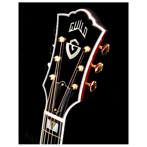 Guild-USA-D55 USA Acoustic Guitar-Dreadnought-Headstock