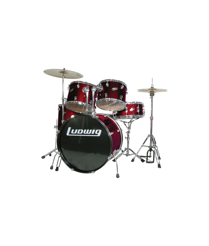 LUDWIG ACCENT CS WINE RED SET KIT