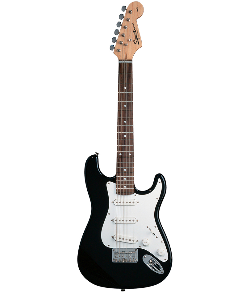squier mini stratocaster electric guitar black main street music sound. Black Bedroom Furniture Sets. Home Design Ideas