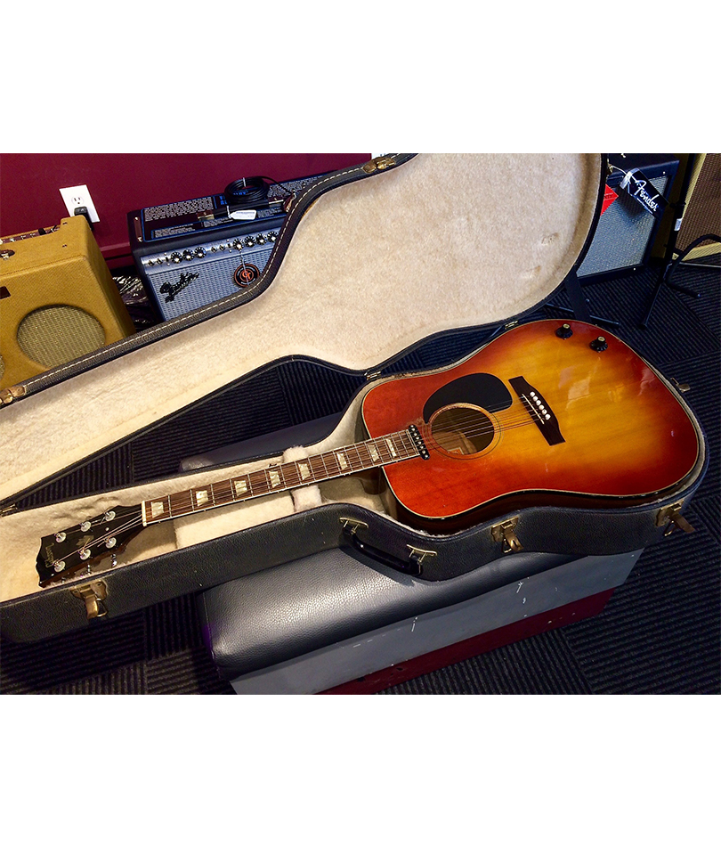 GIBSON-EARLY-1970'S-J-160E-ACOUSTIC-IN-CASE